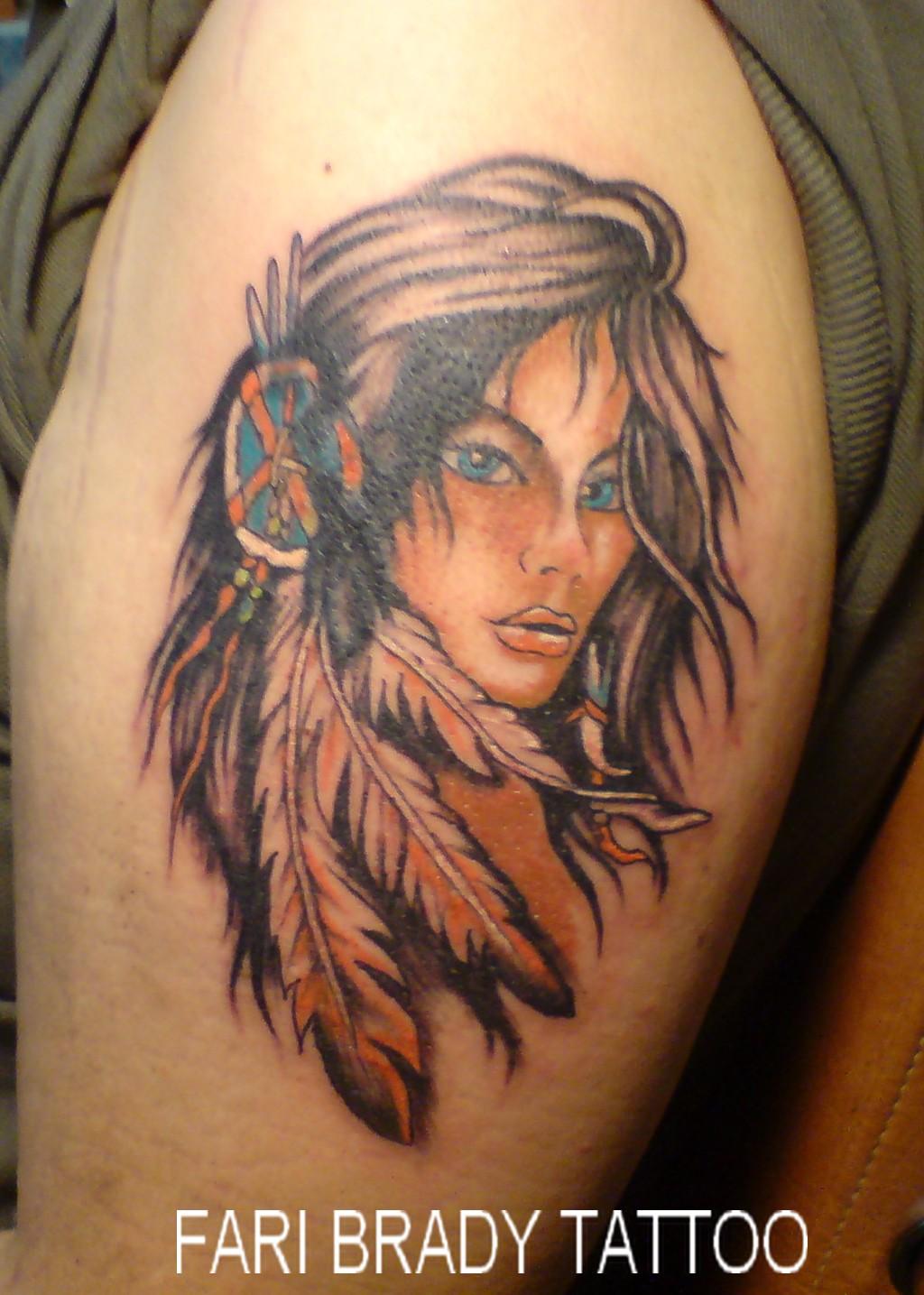 Fari Brady Tattoo &amp Body Piercing  Portrait / Indian